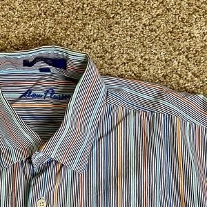 Alan Flusser Button Down Long Sleeve Stripe L
